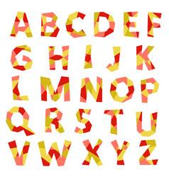english alphabet vintage letters vector image