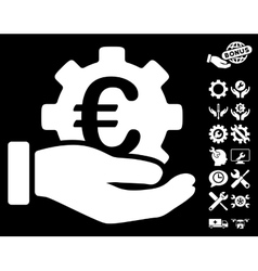 Euro Development Service Hand Icon with vector