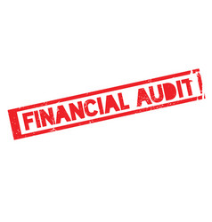 Financial audit rubber stamp vector
