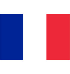 flag france horizontal vector image