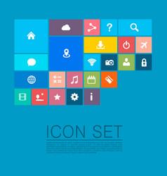 flat set icons vector image