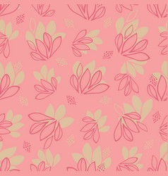 girly abstract leaves seamless texture vector image