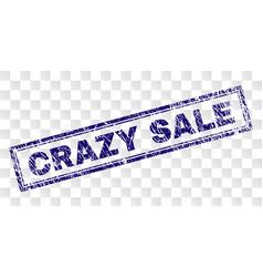 Grunge crazy sale rectangle stamp vector