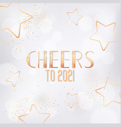 happy new year or merry christmas greeting card vector image