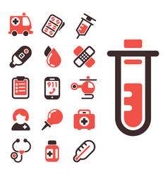 health medical emergency icons healthcare vector image