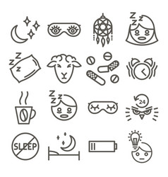 insomnia icon set vector image