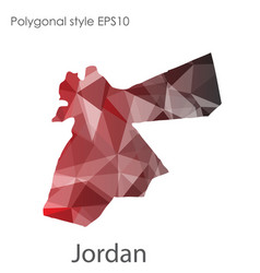 isolated icon jordan map polygonal geometric vector image