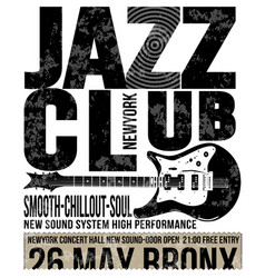jazz club concert music poster design tee graphic vector image