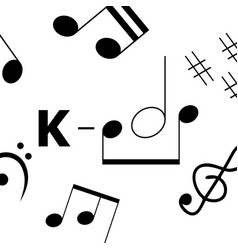 K-pop music style simple art banner with musical vector