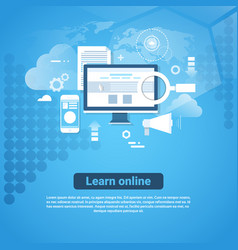 learn online template web banner with copy space vector image