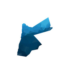 Map - blue geometric rumpled triangular low poly vector