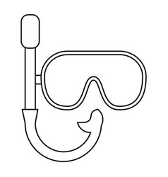 mask snorkel vacation recreation thin line vector image