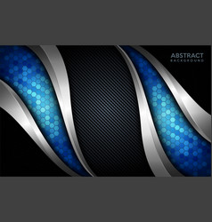 Modern abstract blue tech with silver line and vector