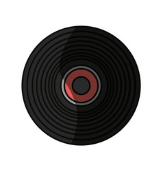 Music vinyl isolated vector
