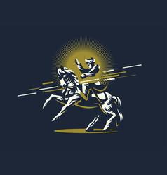 napoleon on horseback vector image