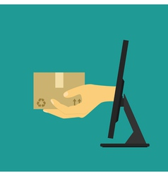 online shopping 2 vector image