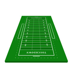 Perspective green american football field view vector