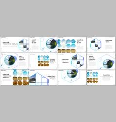 presentation templates multipurpose vector image