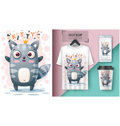 Princess cat - mockup for your idea vector