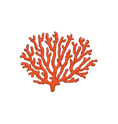 red coral underwater plant sketch icon vector image
