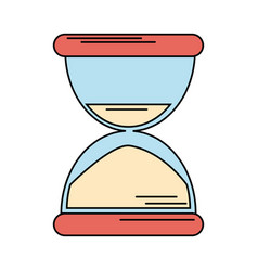 Sand clock time icon vector