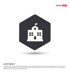 school building icon hexa white background icon vector image