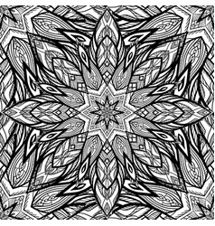 seamless black and white snowflake texture vector image