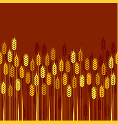 Seamless repeating wheat barley or rye background vector