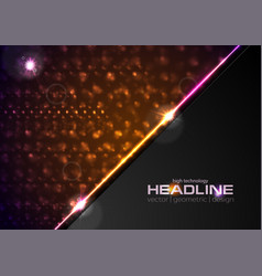 shiny glowing abstract retro lights background vector image