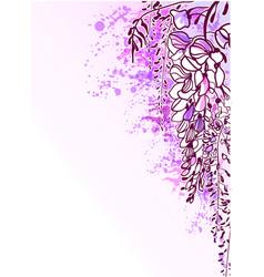 sketch flower background card wisteria violet vector image