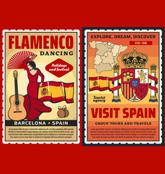 spanish flamenco museum spain travel and tourism vector image