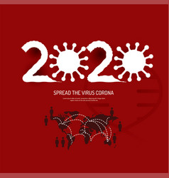 spread corona covid19 virus 2020 world vector image