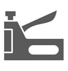 Staple gun glyph icon tool and repair vector