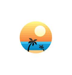 summer holidays beach sign symbol vector image