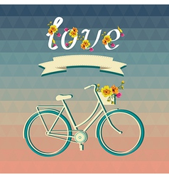 Summer poster with bicycleTypography vector image