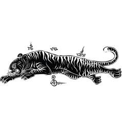 Thai tradition tattootiger vector