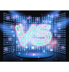 Versus neon logo vector
