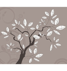 Vintage background with tree vector