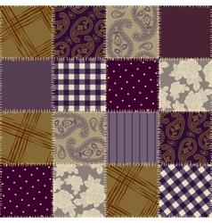 Violet patchwork vector