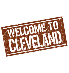 welcome to cleveland stamp vector image