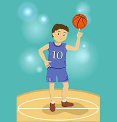 basketball boy vector image vector image