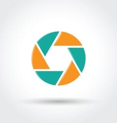 Camera shutter symbol vector image vector image