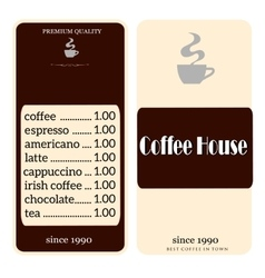 coffee shop menu vector image