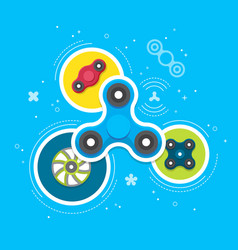 hand spinners banner and leaflet vector image