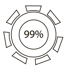 ninety nine infographics outline style vector image