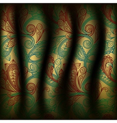 paisley curtain background vector image vector image