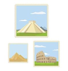 Post stamp set vector image