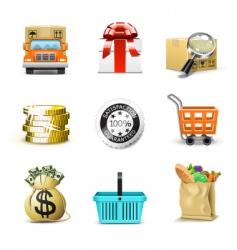 shopping icons | bella series vector image