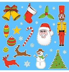Cartoon Christmas elements vector image vector image