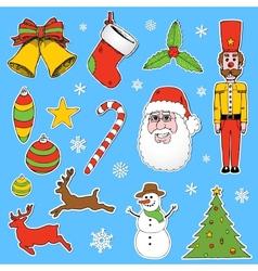 Cartoon Christmas elements vector image